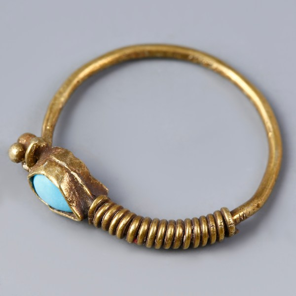 Neo-Assyrian Gold Hoop Earring