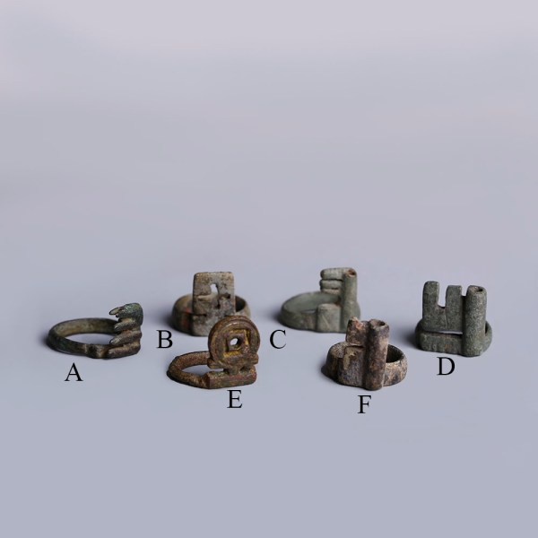 Selection of Ancient Roman Bronze Key Rings