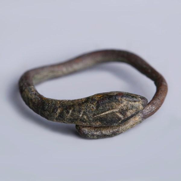 Roman Bronze Snake Ring