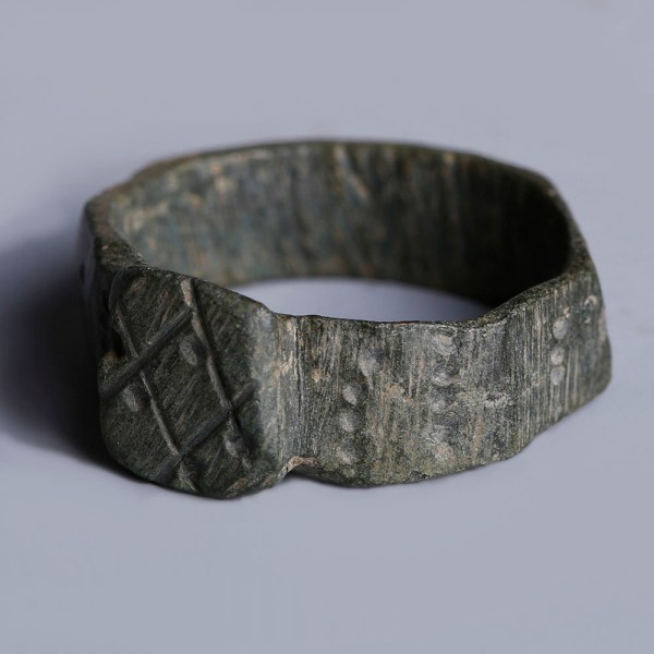 Ancient Roman Bronze Hexagonal Ring