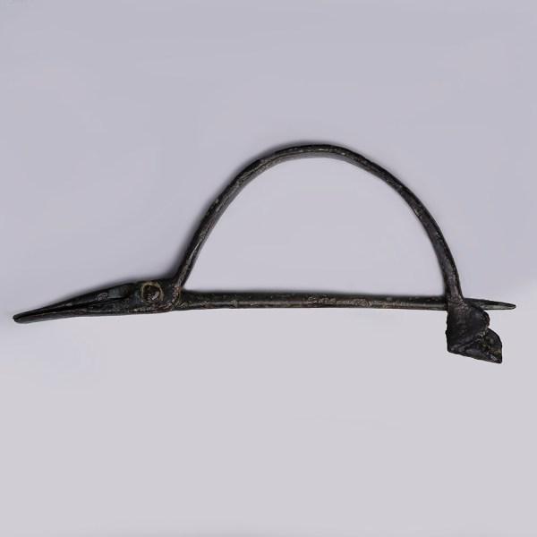 Ancient Roman Bronze Rare Pincher Brooch