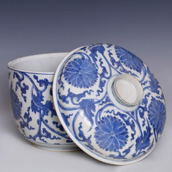 Chinese Kangxi Large Blue and White Ceramic Bowl