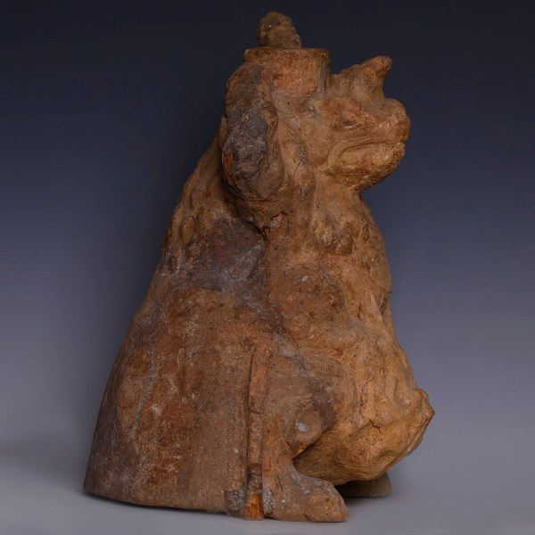 Tang Dynasty  Mythical Beast Group with a Bodhisattva