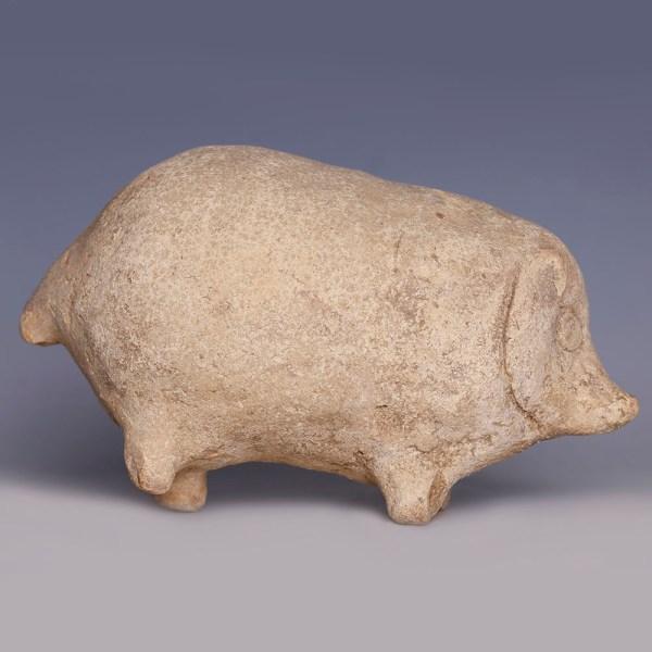 Greek Terracotta Piglet Rattle