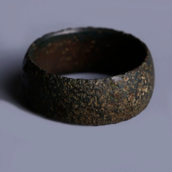 Large Medieval Bronze Finger Ring