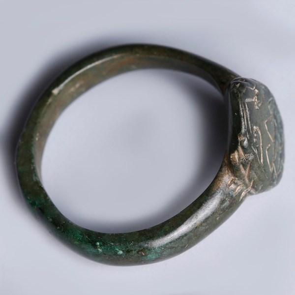 Large Roman Bronze Signet Ring