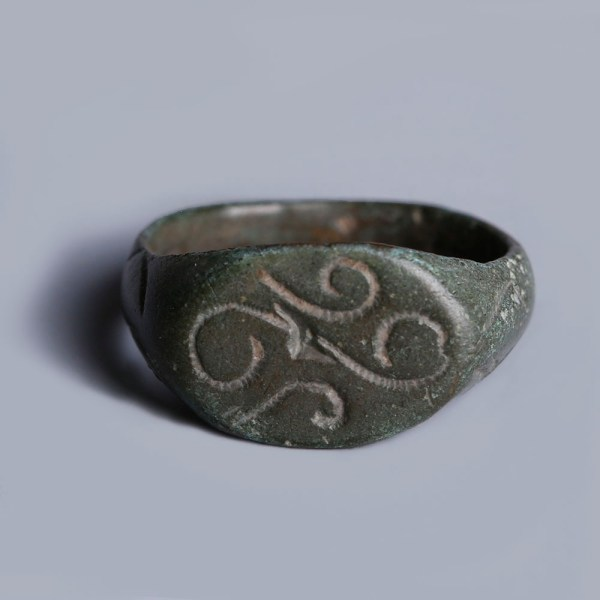Medieval Bronze Signet Ring