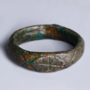 Medieval Christian Ring with Engraved Cross
