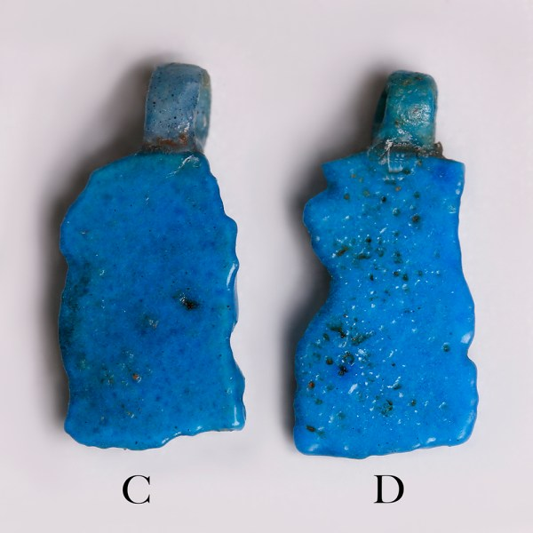 Selection of Egyptian Faience Amulets of Thoth as a Baboon