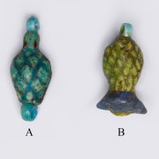 Selection of Faience Egyptian Fruit Amulets