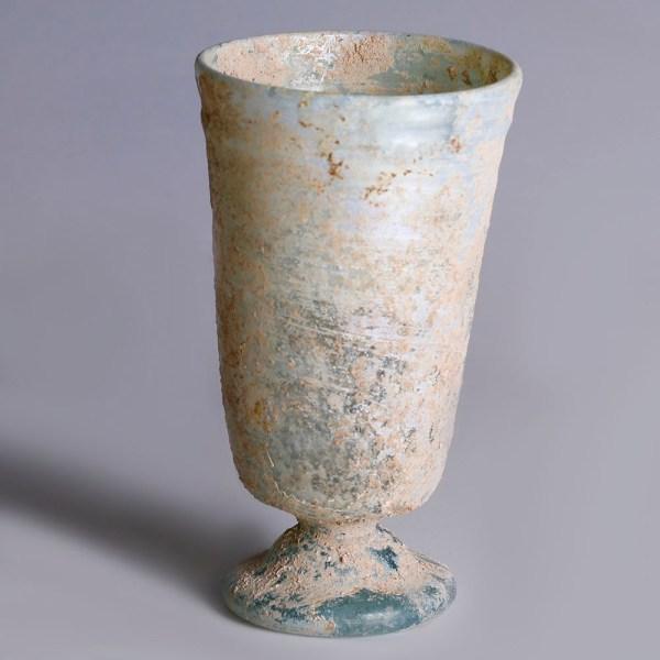 Exquisite Roman Tall Stemmed Beaker