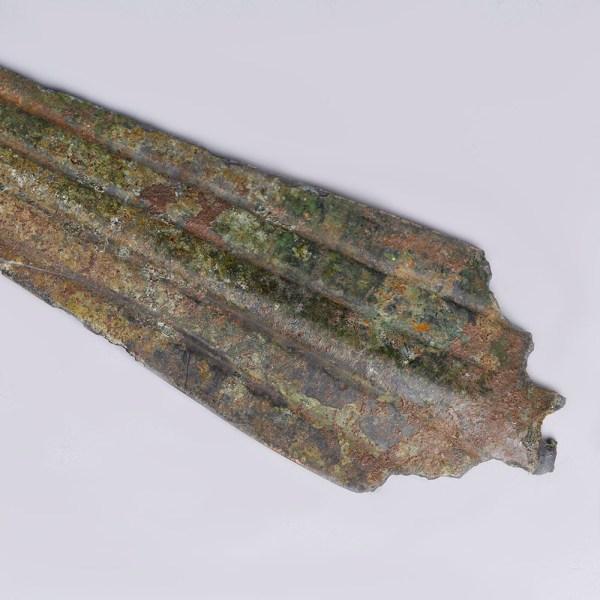 Luristan Bronze Ribbed Spearhead