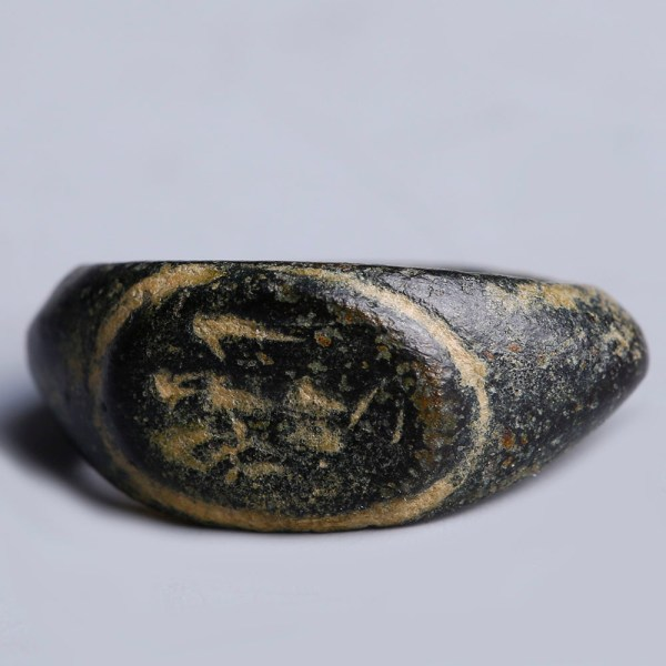 Roman Bronze Intaglio Ring