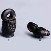 Selection of Roman Black Glass Pendants