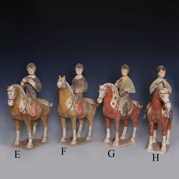 Tang Dynasty Musicians on Horsebacks