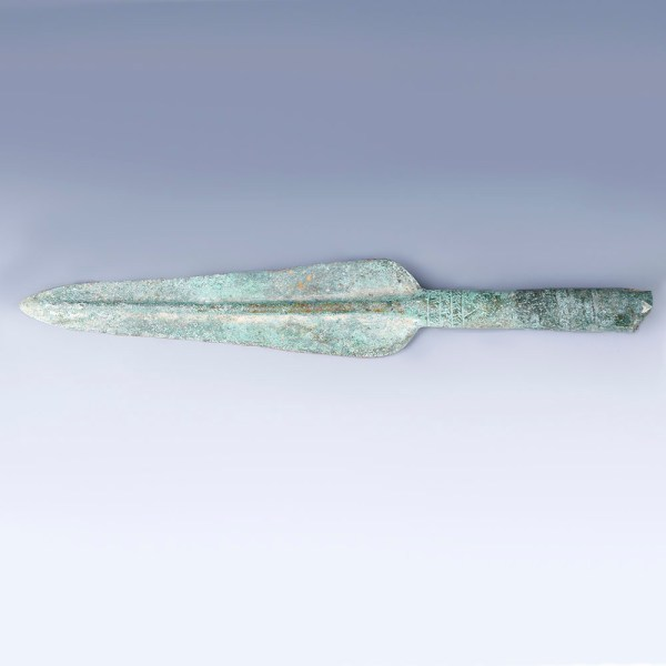 Luristan Spearhead with Incised Decoration