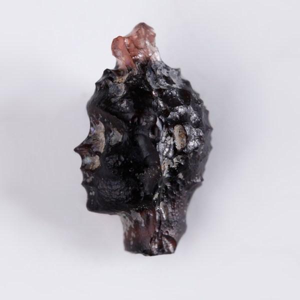Romano-Egyptian Glass 'Blackamoor' Head Pendant