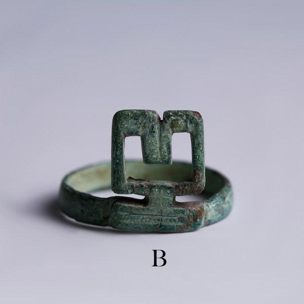 selection of ancient roman bronze key rings b