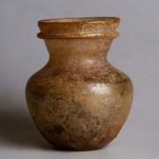 Ancient Roman Brown Glass Jar