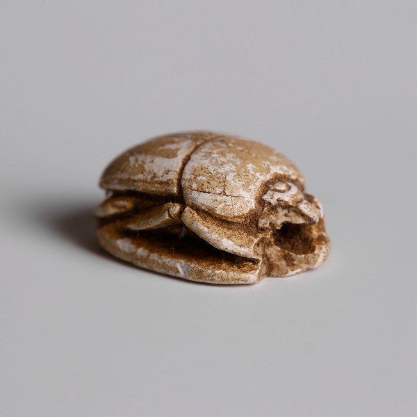 Egyptian Steatite Scarab with Bes