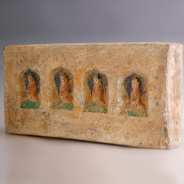 Chinese Northern Wei Brick with Four Buddhas
