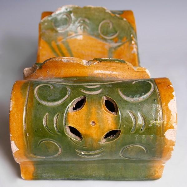 Ming Dynasty Glazed Headrest