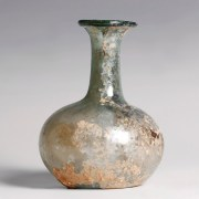 Ancient Roman Blue Glass Flask