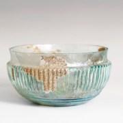 Ancient Roman Glass Ribbed Bowl