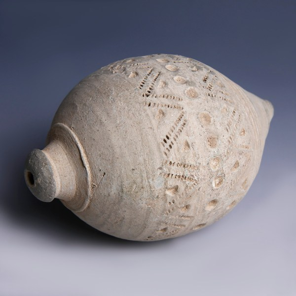 Byzantine Hand Grenade with Rouletted Designs