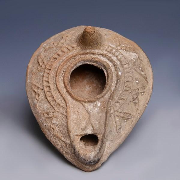 Early Islamic Terracotta Oil Lamp