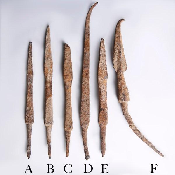 Selection of Roman Period Iron Arrowheads
