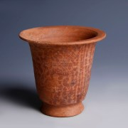 Nabataean Red Terracotta Cup with Floral Decorations