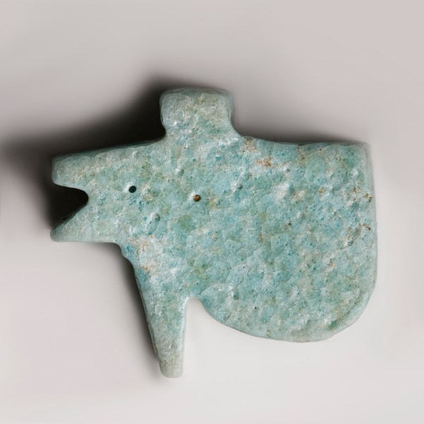 Ancient Egyptian Turquoise Faience Wedjat Amulet