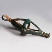 Luristan Bronze Openwork Bell Pendant