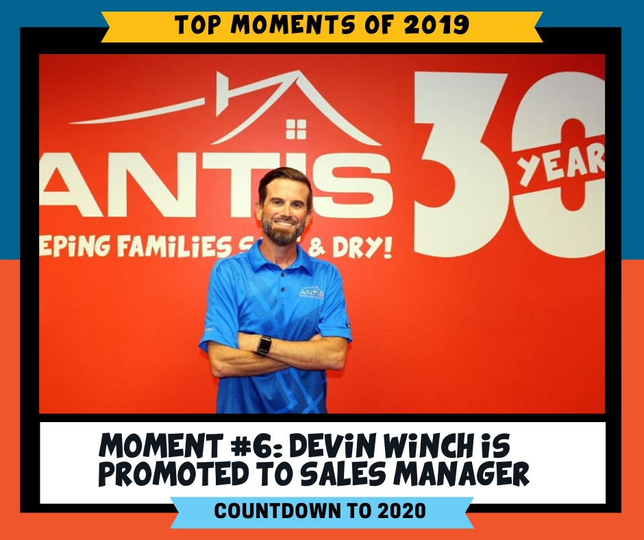 Congratulations to Devin Winch on his promotion from Account Executive to Sales Manager of our SoCal market! Five years with Antis Roofing & Waterproofing, Devin will continue to play a key role in Antis' growth.