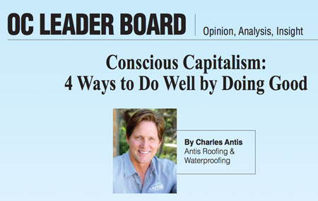 """Antis' Founder & CEO Featured in OCBJ's Leader Board – """"Doing Well By Doing Good"""""""