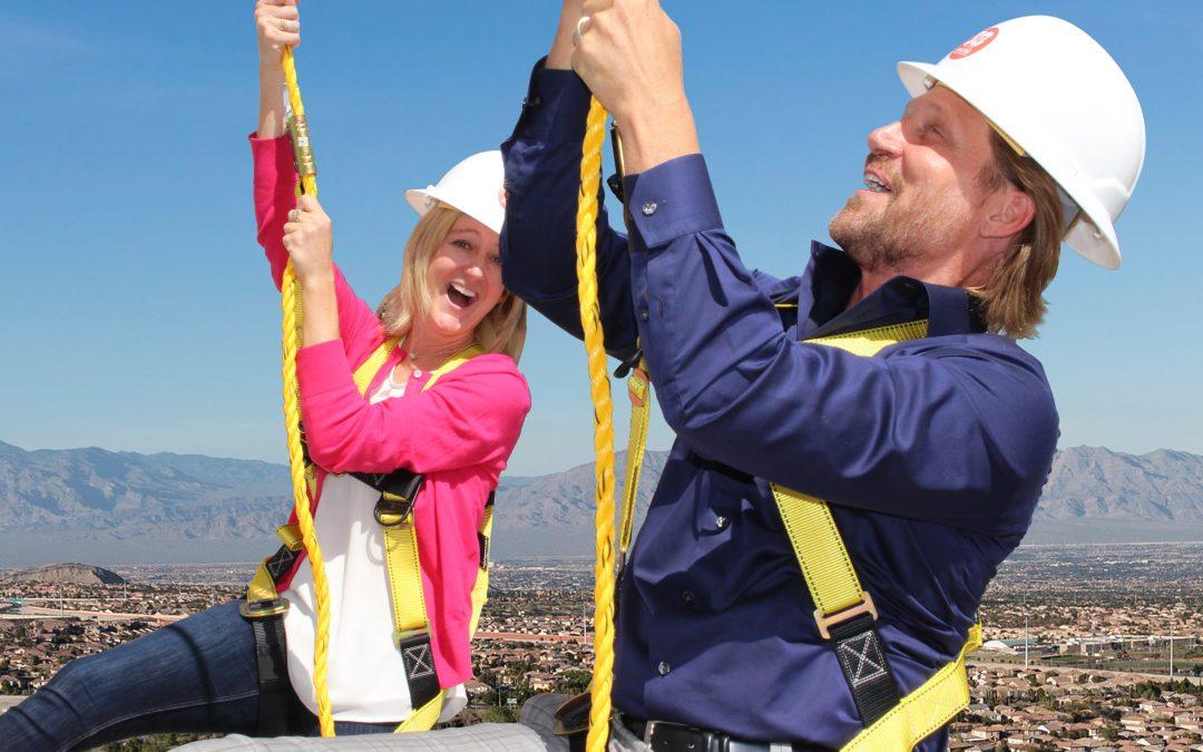 "Charles & Cori go ""Over the Edge"" for Habitat OC!"