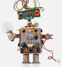 oops 404 error page not found futuristic robot concept with electrical wire hairstyle circuits socket chip toy mechanism funny head colored eyes  [ 1607 x 2125 Pixel ]