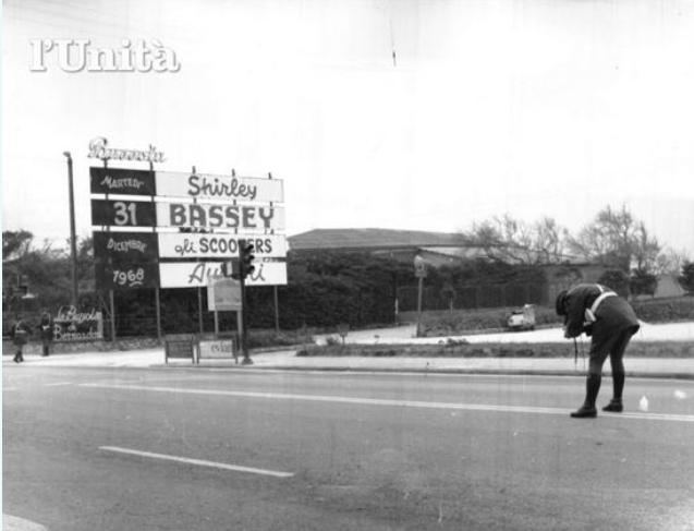I rilievi all'indomani degli scontri (1° gennaio 1969)