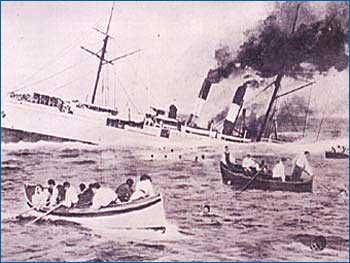 I naufraghi superstiti abbandonano il Sirio.