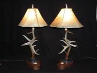Deer Antler Table Lamp  Antler Creek Wildlife Creations