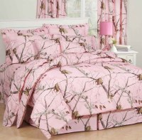 Realtree Pink Camo Comforter Sets - Cabin Bedding