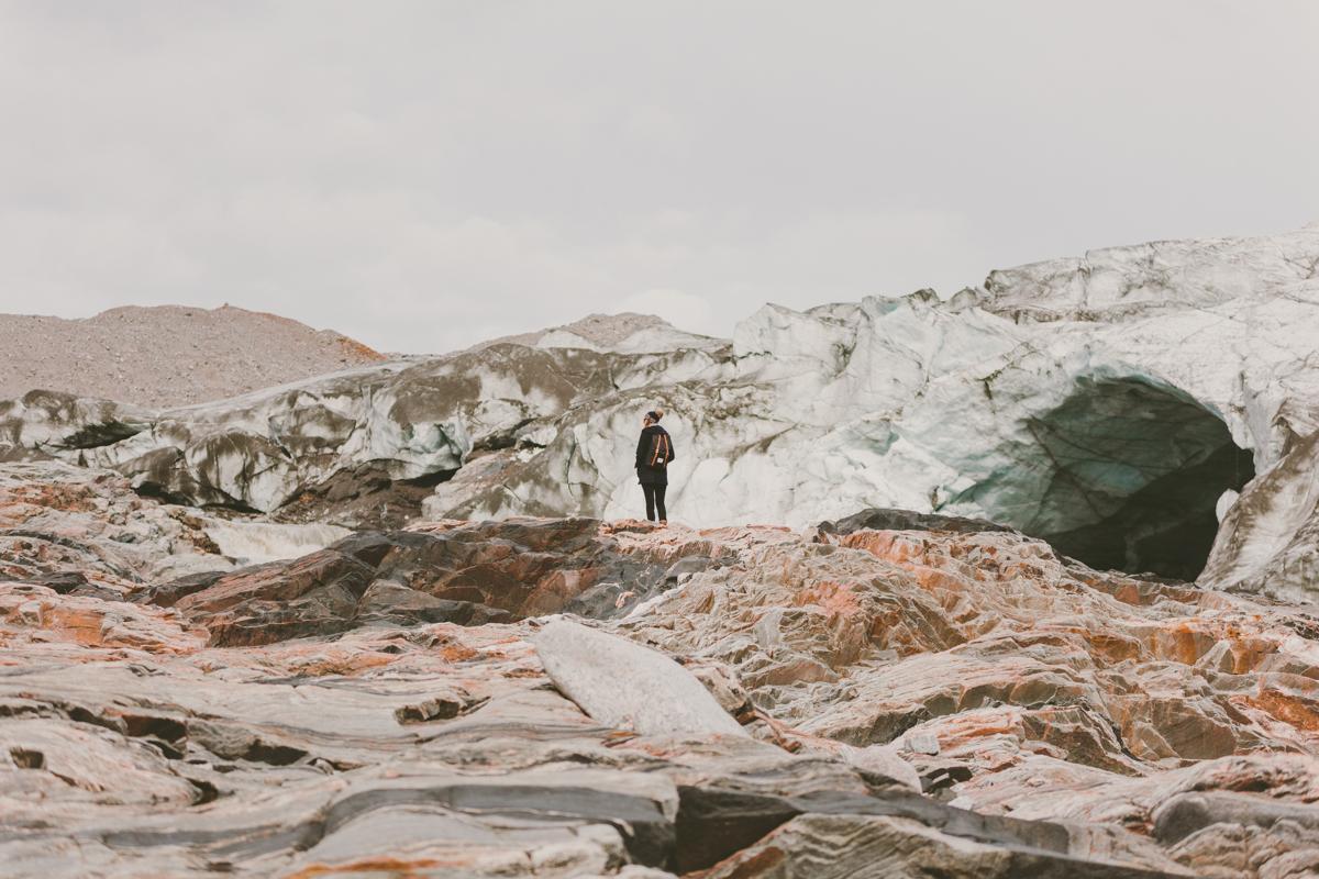 Russel Glacier vid Kangerlussuaq på Grönland