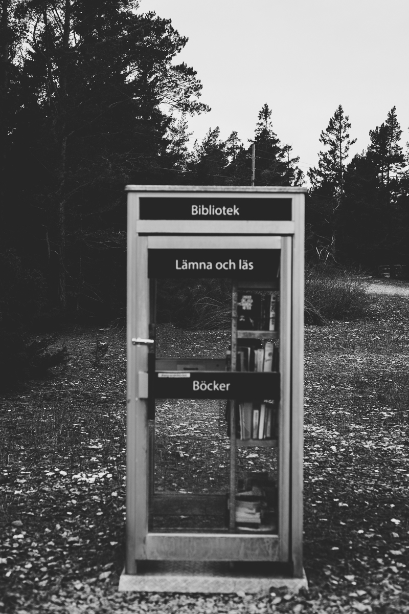bibliotek telefonkiosk lergrav gotland
