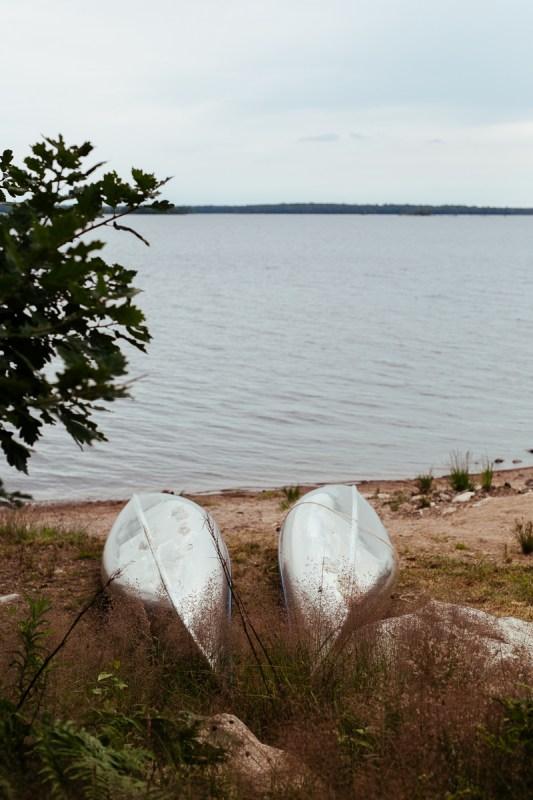 Paddla kanot i Åsnen värendsleden