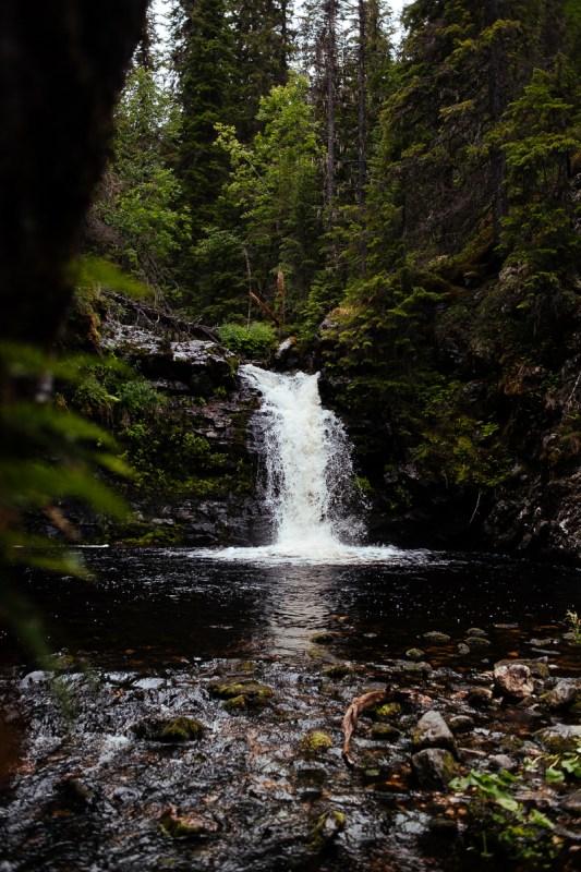 fotografera vattenfall jämtland fettjeåfallet
