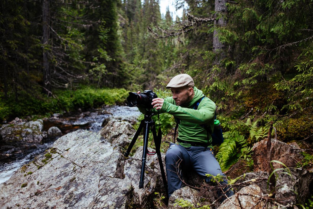 fotografera vattenfall jämtland fettjeåfallet dryden