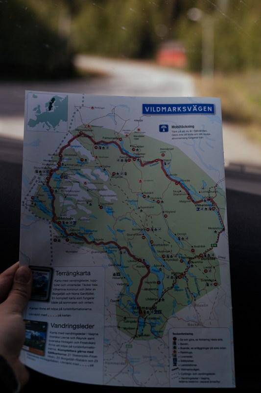 vildmarksvägen karta