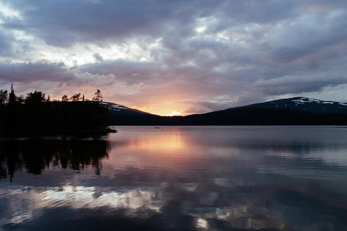 solnedgång vildmarksvägen