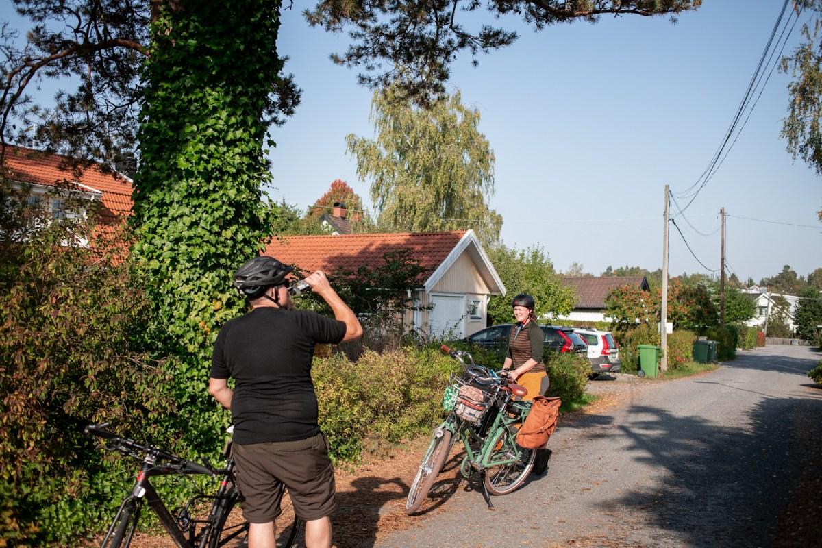 ut på cykeltur